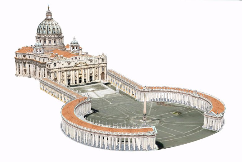 St Peter's and other Roman basilicas in 3D